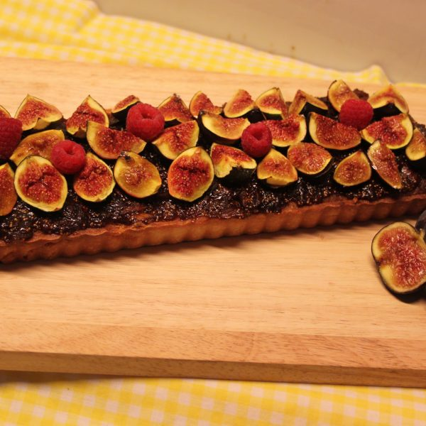 Fig, walnut and honey tart